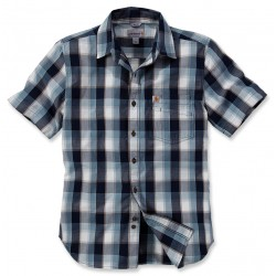 SLIM FIT PLAID SHIRT S/S