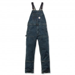 RUGGED FLEX DENIM BIB OVERALLS